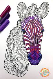 coloring pages kids zebra zentangle