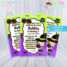 lil witch invitations witch birthday invitation halloween party