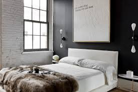 Bedroom Ideas With Red Accents Bedroom With Red Accent Wall Elegant Black Velvet Bench Using Bun