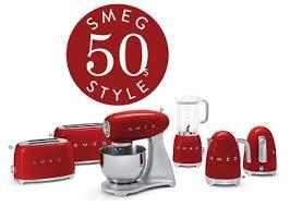 Toaster And Kettle Set Red Smeg Tsf02pbuk Klf01pbuk 50s Retro Style 4 Slice Toaster