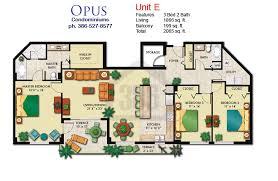 Beach Floor Plans Opus Condo Floor Plans Daytona Beach Shores Condos