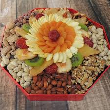 fruit and nut baskets octagon gift box 64 oz dried fruit nut baskets gift