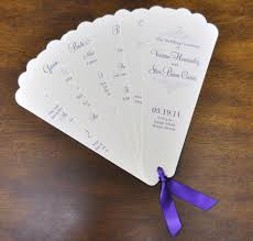 paper fan wedding programs sle wedding programs steve fan wedding programs