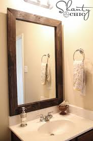 How To Make A Bathroom Mirror Frame Easy Diy Bathroom Updates Diy Mirror Bathroom Mirrors And
