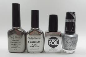 frazzle and aniploish sally hansen color foil swatches and