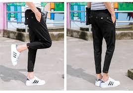 2017 korean style solid ankle length pants slim fit skinny pants