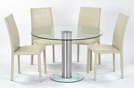 Glass Dining Table Chairs Decorating A Glass Dining Table Laphotos Co