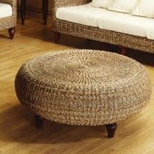 Wicker Accent Table Round Wicker Ottoman Coffee Table Foter