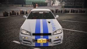 nissan skyline r34 paul walker 2 fast 2 furious nissan skyline r34 livery gta5 mods com