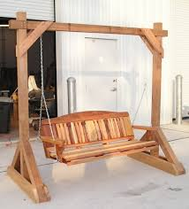 Lawn Swing How To Build A Patio Swing Frame Build Yard Swing Frame Plans Diy