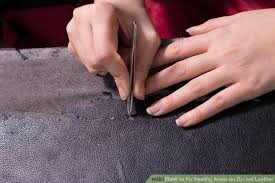 Leather Patches For Sofas How To Fix Peeling Areas On Bycast Leather 4 Steps