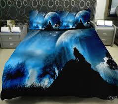 Wolf Bedding Set Anlye Late At Wolf Howl Moonlight Bedding Set 2