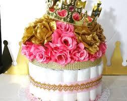 flower pail royal princess baby shower table centerpiece