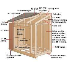 Free Floor Plans Storage Sheds 6 X 8 Shed Plans Free