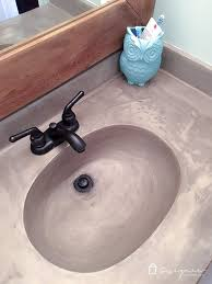 how to build a concrete sink hows it holding up diy concrete vanity update designertrapped diy