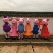 quality halloween costumes for adults aliexpress com buy high quality pink pig cartoon character