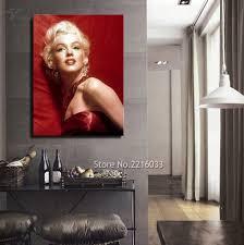 chambre marilyn marilyn toile mur photos chambre décoration peinture