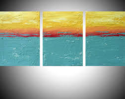 triptych 3 panel abstract acrylic art in purple gift multi