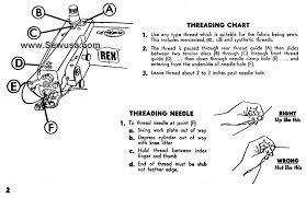 Machine Blind Stitch Rex 618 808 Blindstitch Sewing Machine Threading Diagram