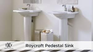 Glacier Bay Pedestal Sinks Roycroft Pedestal Bathroom Sink By Dxv Youtube