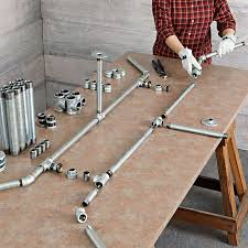 diy pipe desk plans pipe frame harvest table