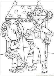 tessie bear kite coloring free noddy coloring pages