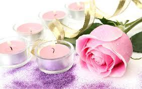 delicate fresh arrangement purple gently