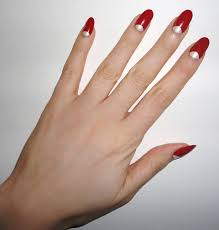 we love half moon nails because they are so classy 60 u0027s fashions