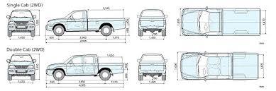 Ford Ranger Bed Dimensions Mitsubishi L200 Strada Specification U2013 Toyota Hilux Revo Vigo Exporter