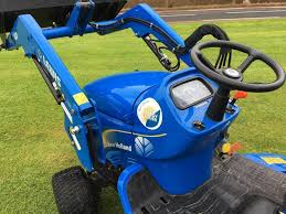 new holland compact tractor front loader ride on mower in lanark