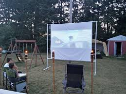 backyard movie screen 9 steps with pictures