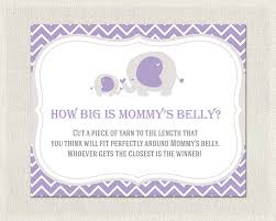purple gray elephant theme baby shower how big is