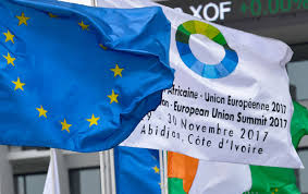 Flag Of The European Union Eu Africa Development Summit Clouded By Migrant Slave Trade In