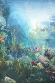 under the sea oil color painting stock photo picture and