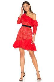 for love u0026 lemons chianti off shoulder ruffle dress in red