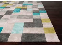 Gray Blue Area Rug Jaipur Rugs Floor Coverings Tufted Durable Polyester Gray