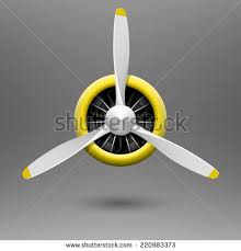 wooden airplane propeller ceiling fan vintage aircraft propeller radial engine vector stock vector