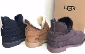 s ankle ugg boots ugg australia mckay suede ankle bootie 1012358 chestnut