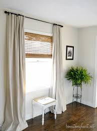 window coverings for my hall window drop cloth curtains window