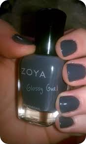 lovely bluish gray nail polish for your nail decorating ideas with
