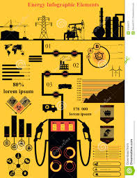 Map Types Energy Infographics Stock Vector Image 41048475