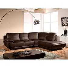 la maison du canapé canapé cuir angle mozart droit marron la maison du canape la redoute