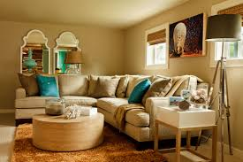 Trends In Home Design Bold And Cheerful Living Room Decorating Interior Having L Shape