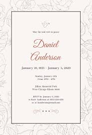 funeral invitation simple funeral invitation template in psd ms word publisher