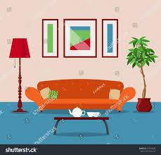 vector image illustration room living room stock vector 577587448