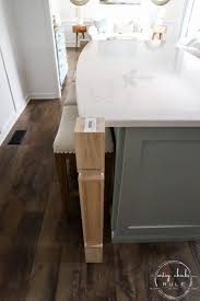 how to make a kitchen island using cabinets diy kitchen island makeover made with big box store