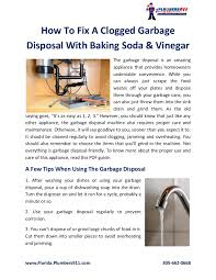How To Fix Clogged Kitchen Sink by How To Fix A Clogged Garbage Disposal With Baking Soda U0026 Vinegar