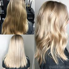 should wash hair before bayalage platinum blonde hair balayage blonde lob before and after
