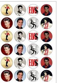 Edible Christmas Cake Decorations Amazon by 12 Elvis Presley Pre Cut Wafer Edible Cupcake Toppers Stand Ups