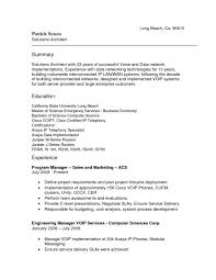 Architect Resume Samples Pdf by Network Architect Resume Youtuf Com